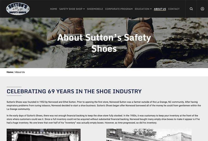 Custom Web Design for a Retail Shoe Business