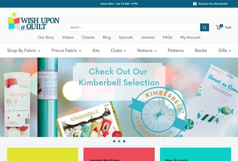 Custom Shopify Site for a Retail Craft Business